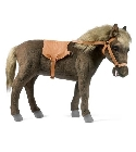 jouets Peluche Cheval nain brun 78 cm