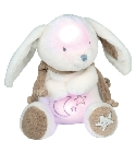 Veilleuse musicale lapin bonbon taupe jouets