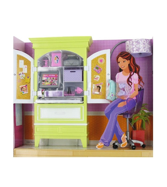 kit mobilier barbie armoire high tech jouet et. Black Bedroom Furniture Sets. Home Design Ideas