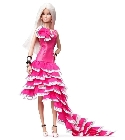 jouets Barbie collection robe pantone rose