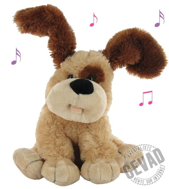 peluche floppy le chien musical jouet et des. Black Bedroom Furniture Sets. Home Design Ideas