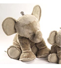 jouets Peluche Grand Eléphant taupe tartine et chocolat