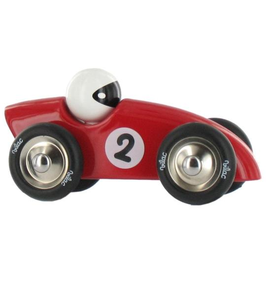 Impression de l 39 article voiture de course rouge en bois for Objet de decoration rouge